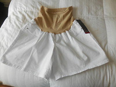 NWT Oh Baby by Motherhood Maternity Shorts Sz. XL  White  NEW