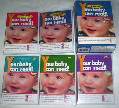 Your Baby Can Read 5 DVD Set - Volumes 1,2,3 + Starter & Review Early learning