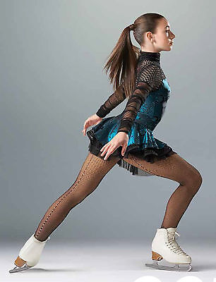 New Competition Skating Dress MONDOR 1292510 Cabaret Turquoise AXL Adult Large