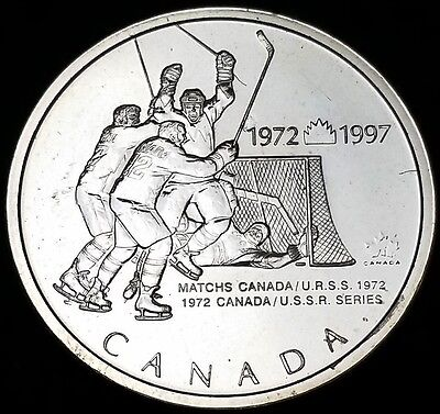 1972-1997 Canada 0.925 Sterling Silver Commemorative Pin, Hockey Gold Medal Game