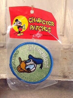 "Vintage Disneyland Character Patch 3"" Embroidered DONALD DUCK Clothes Jacket MIP"