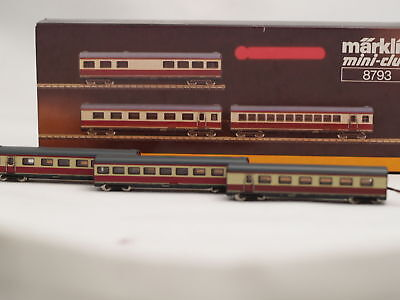 8793 Marklin Z-scale 3 middle extension cars for the Max Libermann  #8873