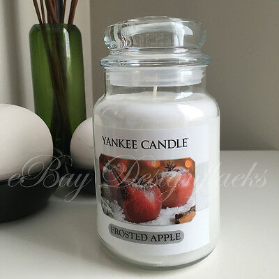 Yankee Candle ~ FROSTED APPLE ~ *Free Shipping* 22oz Large Jar