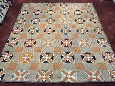 Awesome Old Pattern Turn of the Century Antique Quilt