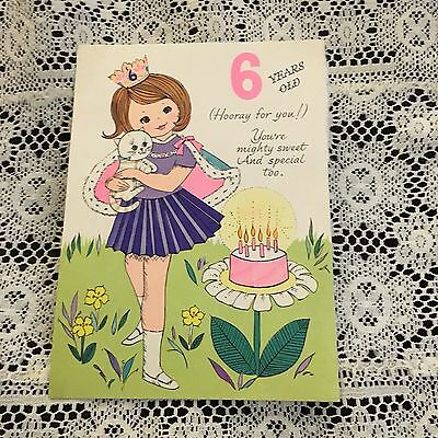 Vintage Greeting Card Front Birthday Queen Girl Crown