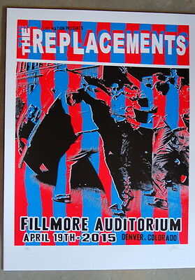 The Replacements - Fillmore - Denver - 2015 - Posters - Lindsey Kuhn - Chilton