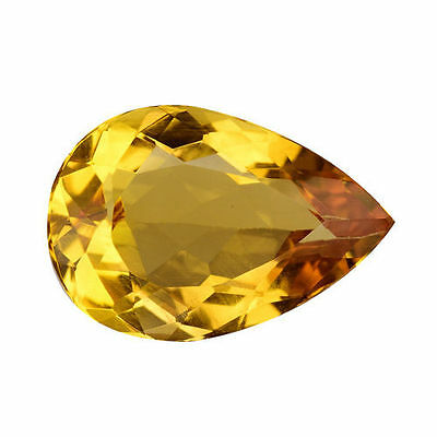 3.080 Cts Marvelous Luster Golden Yellow Natural Beryl ( Heliodor) Pear Gemstone