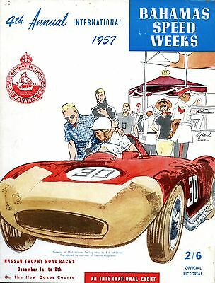 1957 Stirling Moss Ferrari 290 MM Wins Nassau, Bahamas Road Race Program