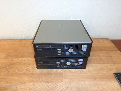 One Lot of 2 DELL OPTIPLEX 755 DCCY Core 2 Duo Tower 2.2 GHz 1 GB Ram DVDROM