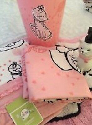 Circo Pink Black Kitty Shower Curtain 5 Pc Set Girls Bathroom Cat Waste Can New