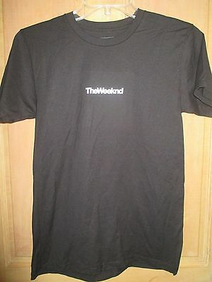 NEW THE WEEKND 2015 Concert Tour Promotional T-SHIRT TEE SHIRT LADIES S BLACK