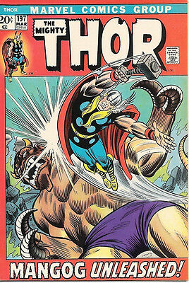 The Mighty Thor Comic Book #197, Marvel Comics 1972 FINE+