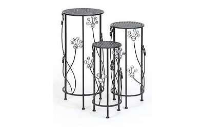 Metal Plant Stand Set-3 28, 24, 20H Patio Accents 63345