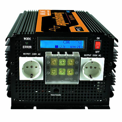 Inverter 3500W 7000W Pure Sine Wave 12V 220V convertitore di with LCD Display