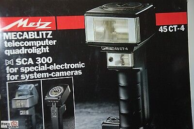 Metz Mecablitz 45 CT-4 Hand-held flashgun mit AA of battery basket u.