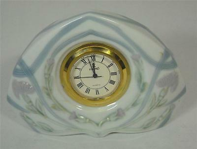 Lladro Mantle Clock Porcelain Hand Made In Spain 1989