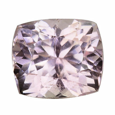 3.790Cts Extraordinary Luster Soft Pink Natural Kunzite Cushion Loose Gemstones