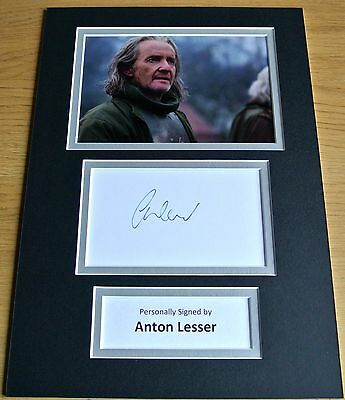 Anton Lesser Hand Signed Autograph A4 Photo Display Game Of Thrones Gift & Coa