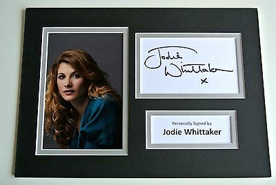 Jodie Whittaker Signed Autograph A4 photo mount display Broadchurch TV & COA