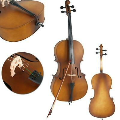 4/4 Professional Natural  Matte Golden Cello for Students +Bag+Bow+Rosin