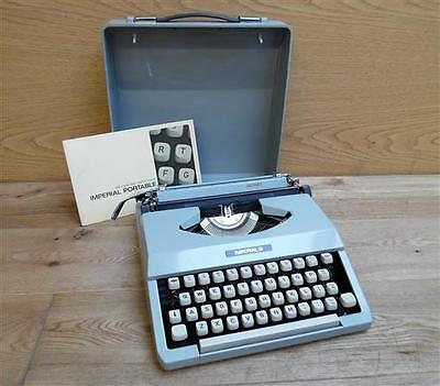 Vintage Imperial Signet Portable Typewriter Word Processor in Carrying Case