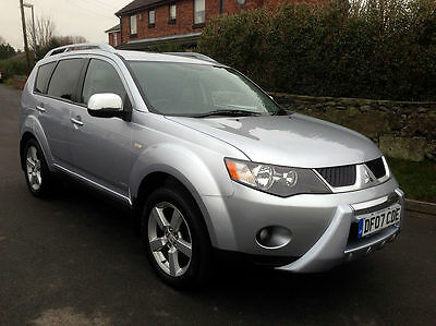 07 07 MITSUBISHI OUTLANDER 2.0 DI-D WARRIOR TURBO DIESEL 7 SEAT 4x4 - 2 OWNERS