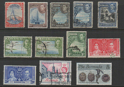 Bermuda, KG6 & QE2 selection of 12 fine used & mounted mint.
