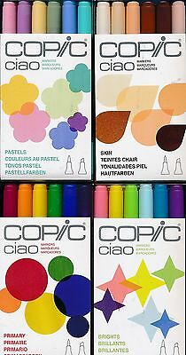 COPIC Ciao Markers 6-piece Primary Brights Pastels Skin NEW made in Japan