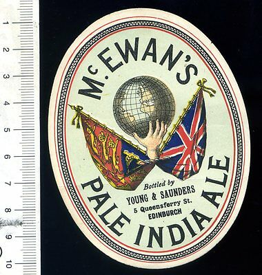 SCOTTISH BEER LABEL - McEWAN'S PALE INDIA ALE/YOUNG & SAUNDERS, 5 QUEENSFERRY ST