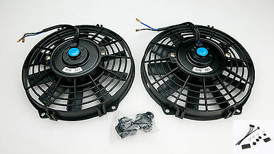 "2 x12"" Electric Radiator  Fan Sierra Escort Cosworth Straight 5482 With Fitting"