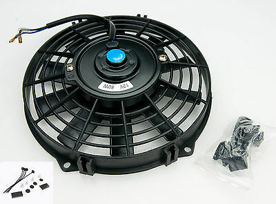 "Electric Radiator Cooling Fan 12"" Push/Pull Universal Straight 5482 With Fitting"