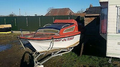 16' Foot Fishing River Boat With Lockable Cabin 15hp Short Shaft Outboard Engine