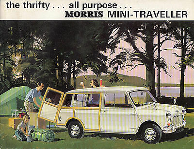The Thrifty... All Purpose... Morris Mini-Traveller Brochure, Dated 7/64.