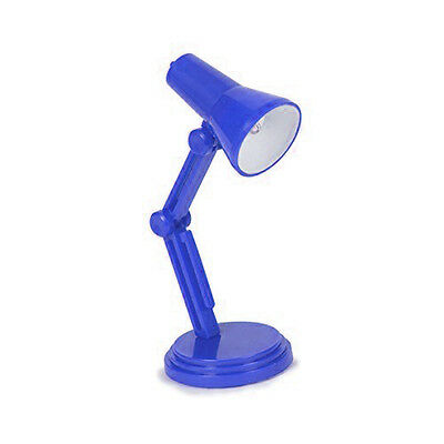 Battery Powered LED Mini Desktop Book Lamp with Hanging Clip - Blue + GIFT