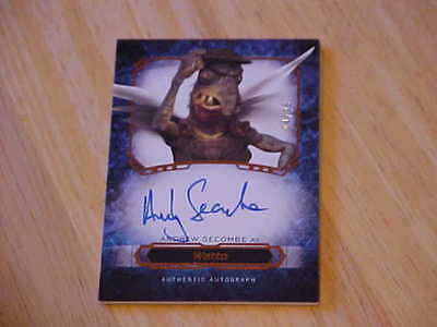 Andrew Secombe as Watto Star Wars Masterwork AUTO Autograph ON CARD