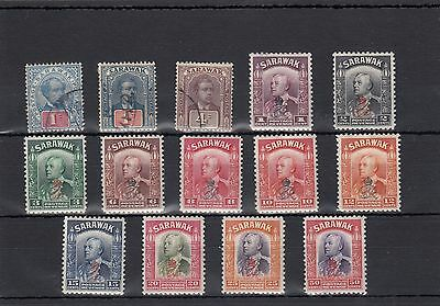 Sarawak.14 -- 1918/34 Mounted Mint/used  Stamps On Stockcard