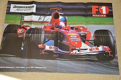 Michael Schumacher  Autographed Poster From Indianapolis 2004