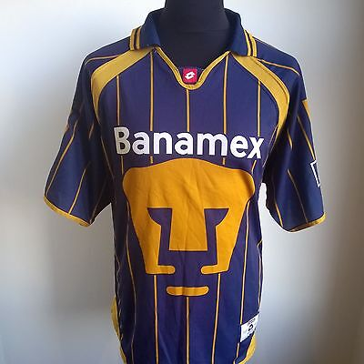 Unam Pumas 2004 Away Football Shirt Mexican Lotto Jersey Size Adult Xl