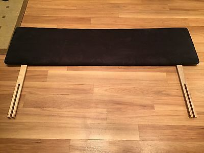 Black Faux Suede King Size Headboard - Collection From Dorset