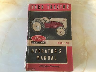 Vintage FORD TRACTOR MODEL 8N Operator's Manual (1952)