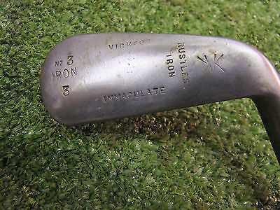 Playable Vintage Hickory 3 Iron by Vickers old golf good condition memorabilia