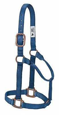 COPPER CREEK Collection WEAVER Small Horse Halter BLUE Copper Hardware QUALITY