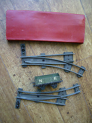 2 Boxed Hornby O Gauge 2' Radius Points R/h & L/h + Ne Mineral Wagon: Railway.