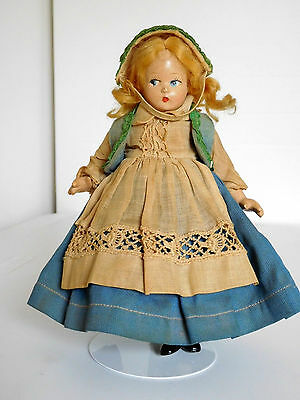 """Vintage Alexander 7"""" Tiny Betty Norwegian Composition Tagged Dress"""