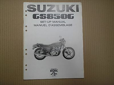 Suzuki GS 850 GS850 GS850G genuine SET-UP ASSEMBLY manual with wiring diagram
