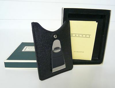 Unused boxed Dalvey Leather Credit card & money clip