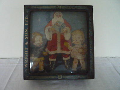 Wright & Son Ltd Christmas Santa Tin Mabel Lucie Atwell Shop Counter Display