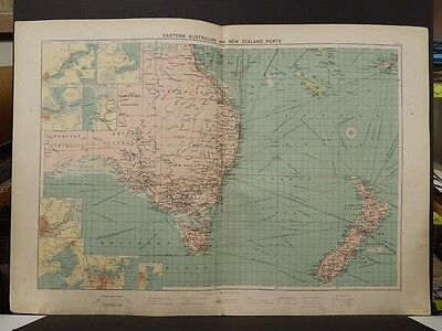 Mercantile Marine Atlas 1914 Eastern Australian and New Zealand Ports R4#72
