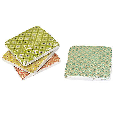 Set Of 4 Moroccan Tile Drink Coasters With Cork Back