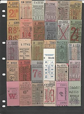 Bell Punch Tickets - Various operators, 30 tickets.